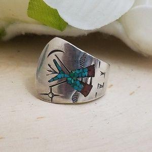 Jewelry - Vtg Sterling Silver Charlie Singer Navajo Ring 6.5